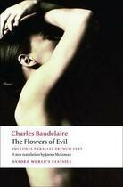 Couverture du livre « The flowers of evil » de Charles Baudelaire aux éditions Oxford Up Elt