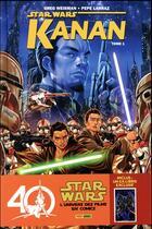 Couverture du livre « Star Wars - Kanan T.1 » de Pepe Larraz et Greg Weisman aux éditions Panini