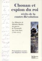 Couverture du livre « Chouan et espion du roi » de Stephane Vautier aux éditions La Louve