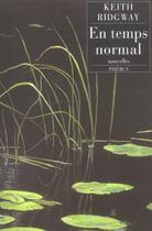 Couverture du livre « En temps normal » de Keith Ridgway aux éditions Phebus