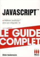 Couverture du livre « Javascript (7e édition) » de Olivier Hondermarck aux éditions Micro Application