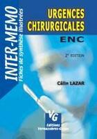 Couverture du livre « Urgences chirurgicales » de Calin Lazar aux éditions Vernazobres Grego