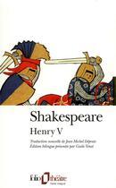 Couverture du livre « La vie du roi henry v » de William Shakespeare aux éditions Gallimard