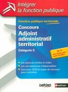 Couverture du livre « Concours adj administ territ (édition 2004) » de Tuccinardi/Bon/Pioz aux éditions Nathan