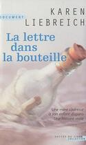 Couverture du livre « La lettre dans la bouteille » de Karen Liebreich aux éditions Succes Du Livre