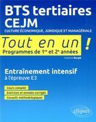 Couverture du livre « Bts tertiaires - cejm - culture economique, juridique et manageriale » de Delphine Burgle aux éditions Ellipses