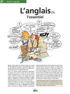 Couverture du livre « Petit Guide T.40 ; L'Anglais T.1 ; L'Essentiel » de Collectif aux éditions Aedis