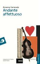 Couverture du livre « Andante affettuoso » de Rosanna Carnevale aux éditions Portaparole