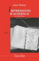 Couverture du livre « Impressions d'audience ; le procès Pétain » de Leon Werth aux éditions Viviane Hamy