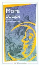 Couverture du livre « L'utopie » de Thomas More aux éditions Flammarion