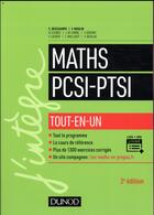 Couverture du livre « Mathématiques tout-en-un PCSI-PTSI (2e édition) » de Claude Deschamps et Francois Moulin aux éditions Dunod
