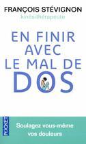 Couverture du livre « En finir avec le mal de dos » de Francois Stevignon aux éditions Pocket