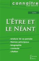 Couverture du livre « L'être et le néant, de Jean-Paul Sartre » de Jean-Paul Sartre aux éditions Editions Du Cenacle