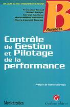 Couverture du livre « Controle de gestion » de Francoise Giraud aux éditions Gualino
