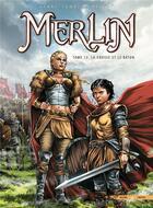 Couverture du livre « Merlin T.13 ; la crosse et le bâton » de Nicolas Jarry et Eric Lambert aux éditions Soleil