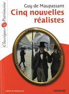 Couverture du livre « Cinq nouvelles réalistes » de Guy de Maupassant aux éditions Magnard