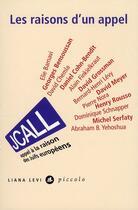 Couverture du livre « JCall ; les raisons d'un appel » de Collectif aux éditions Liana Levi