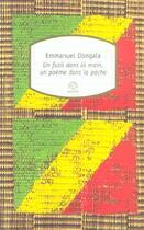 Couverture du livre « Un fusil dans la main, un poème dans la poche » de Emmanuel Dongala aux éditions Motifs