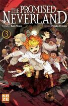 Couverture du livre « The promised Neverland T.3 » de Kaiu Shirai et Posuka Demizu aux éditions Kaze