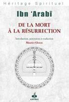 Couverture du livre « De la mort à la résurrection » de Maurice Gloton aux éditions Albouraq