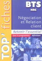 Couverture du livre « Negociation et relation client » de Hubert Neveu aux éditions Hachette Education