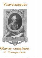 Couverture du livre « Oeuvres complètes et correspondances » de Marquis De Vauvenargues aux éditions Coda