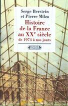 Couverture du livre « Histoire de la france xxeme siecle » de Serge Berstein aux éditions Complexe