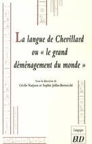 Couverture du livre « Langue d'Eric Chevillard ou le