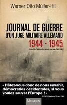 Couverture du livre « Journal de guerre d'un juge militaire allemand (1944-1945) » de Werner Otto Muller-Hill aux éditions Michalon