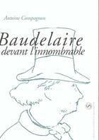 Couverture du livre « Baudelaire Devant L Innombrable. Hors Serie » de Comagnon A aux éditions Pu De Paris-sorbonne
