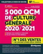 Couverture du livre « 5000 QCM de culture générale (édition 2020/2021) » de Aurelie Ohayon aux éditions Studyrama