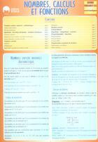 Couverture du livre « Nombres calculs et fonctions » de Jauffret B aux éditions Eska