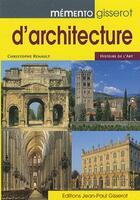 Couverture du livre « Memento Gisserot D'Architecture » de Christophe Renault aux éditions Gisserot