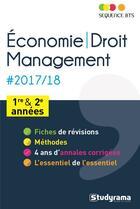 Couverture du livre « Séquence BTS ; économie-droit, management : BTS 1re et 2e années (édition 2017/2018) » de Patrick Simon aux éditions Breal