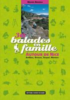 Couverture du livre « 30 balades en famille autour de nice » de Michel Bricola aux éditions Glenat