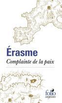 Couverture du livre « Complainte de la paix » de Erasme aux éditions Gallimard