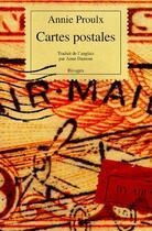 Couverture du livre « Cartes postales » de Annie Proulx aux éditions Rivages