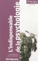Couverture du livre « L'indispensable de la psychologie (3e édition) » de Charlotte Mareau et Adeline Vanek-Dreyfus aux éditions Studyrama