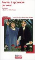 Couverture du livre « Poèmes à apprendre par coeur ; anthologie » de Helene Fieschi et Pierre-Olivier Douphis aux éditions Gallimard