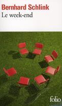 Couverture du livre « Le week-end » de Bernhard Schlink aux éditions Gallimard