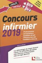 Couverture du livre « Concours infirmier ; professionnels non bacheliers ; candidats AS-AP (édition 2019) » de Sylvie Lefranc aux éditions Lamarre