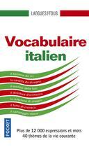 Couverture du livre « Vocabulaire italien » de Jean-Francois Bonini aux éditions Pocket