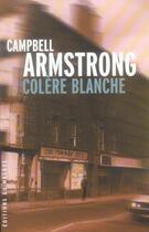 Couverture du livre « Colere blanche » de Armstrong-C aux éditions Editions Du Masque