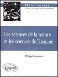 Couverture du livre « Les sciences de la nature et les sciences de l'homme » de Huneman aux éditions Ellipses Marketing