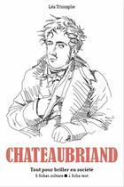Couverture du livre « François-René de Chateaubriand » de Lea Triomphe aux éditions Editions Du Cenacle