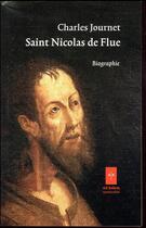 Couverture du livre « Nicolas de Flue » de Charles Journet aux éditions Ad Solem