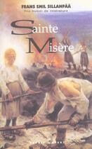 Couverture du livre « Sainte misère » de Frans Emil Sillanpaa aux éditions Esprit Ouvert