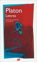 Couverture du livre « Lettres » de Platon aux éditions Flammarion