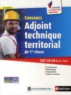 Couverture du livre « Concours adjoint technique territorial de 1re classe ; catégorie C (édition 2014) » de Laurent Fischer aux éditions Nathan