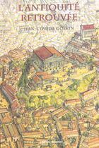Couverture du livre « L'antiquite retrouvee » de Golvin Jean Claude aux éditions Errance